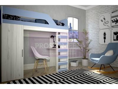 Кровать детская двухярусная Нью-Йорк-2