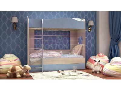 Кровать детская двухярусная Симба