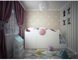 Кровать детская МДФ Престиж-1