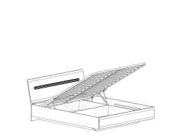 Кровать с подъемным механизмом LOZ160 Ацтека
